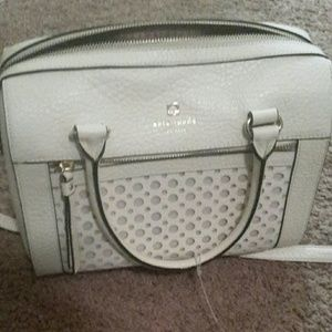 Kate spade authentic white leather handbag nwot.